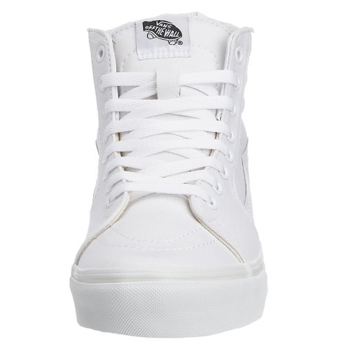 Classic Hi Adulto Suede SK8 Alti Sneakers Canvas Unisex True White Bianco Vans W00 Eq61p5w1