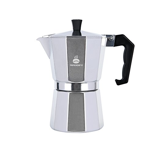 Maggift Stovetop Coffee Maker, Aluminum Italian Moka Pot (6 Cup) by Maggift (Image #1)