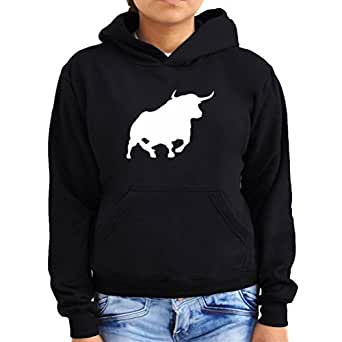 Bull silhouette Women Hoodie