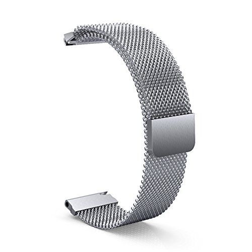 XIHAMA Band for Garmin Vivosmart HR+,Milanese Loop Stainless Steel Watch Strap Breathable Sports Fitness Bracelet with Magnetic Closure for Garmin Vivosmart HR Plus (Silver)