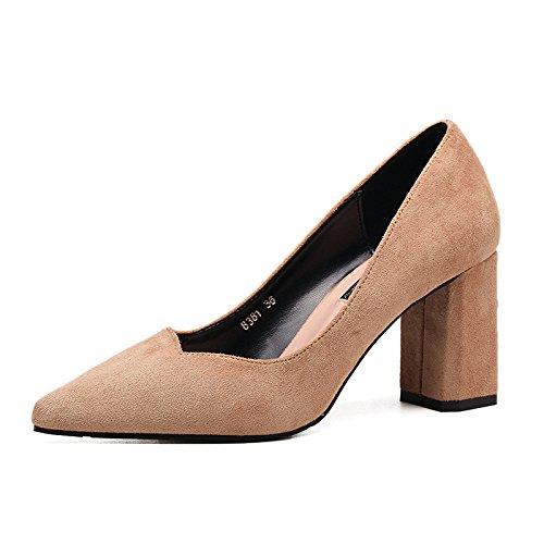 poco Autunno scarpe sandali bocca bold tacchi ZHZNVX con alti tacchi con nuova satin con alti semplicità scarpe punta profonda unica black i i Sawqgw7