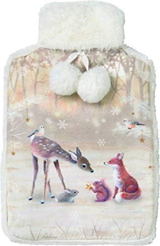 IHR Wärmflasche mit abnehmbaren Bezug 34cm Silent Forest REH Wald Winter Wellness