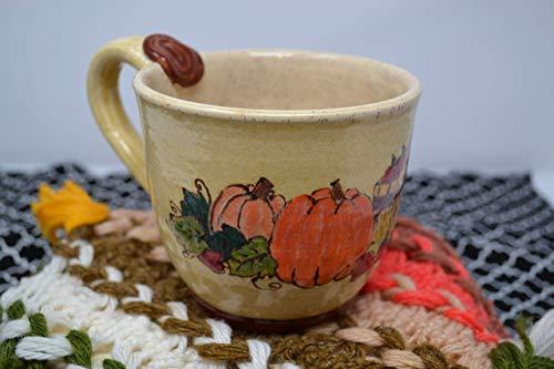 Handmade Ceramic Stoneware Pumpkin Cup/Mug