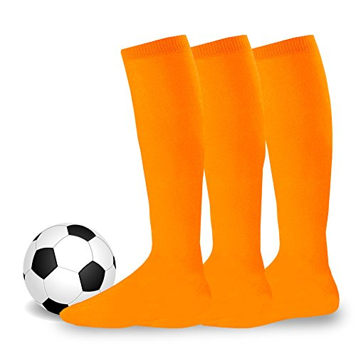 Soxnet Acrylic Unisex Soccer Sports Team Cushion Socks 3 Pack (Junior (7-9),...