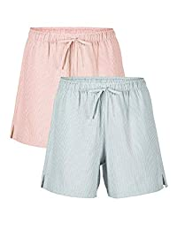 Femofit Cotton Pajama Shorts for Women 2 Pack Sleep Shorts for Women Lounge Shorts Women Sleep Shorts S~XL