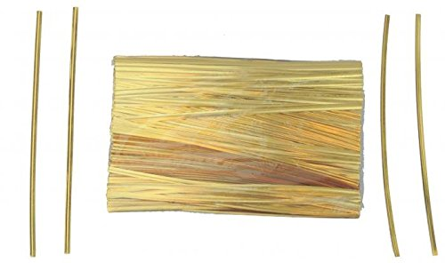 7'' Gold Metallic Ties - 500 Per Bag (15 Bags) - 7-GM by Miller Supply Inc