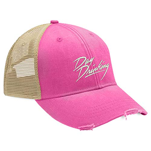 Piper Lou - Day Drinking Trucker Hat with Snapback Enclosure - Pink
