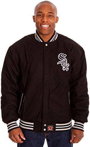 Chicago White Sox Mens Black Wool & Nylon Reversible Jacket (4X)