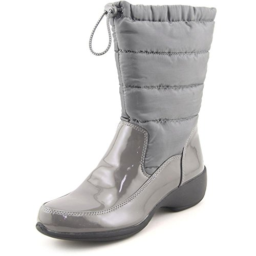 ude Fabric Almond Toe Mid-Calf Cold, Grey95, Size 6.0 ()