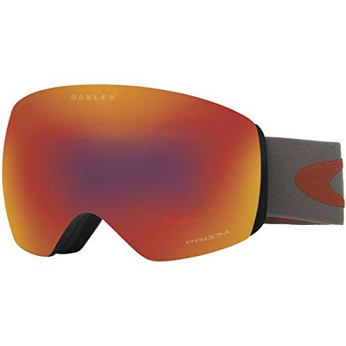 Oakley Men's Flight Deck Snow Goggles, Iron Brick, Prizm Torch Iridium, - Oakley Mens Goggles Snow