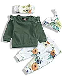 Toddler Baby Girls Fall Outfit Long Sleeve Ruffle...