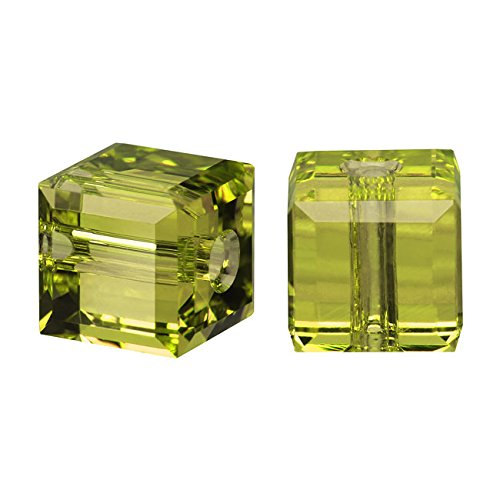 Swarovski Crystal, 5601 Cube Beads 4mm, 10 Pieces,