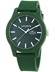 Lacoste Mens L.12.12 Green Silicone Strap Watch 2010763