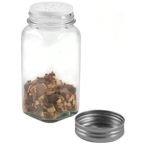 RSVP Glass Square Spice Jar, Set of 6