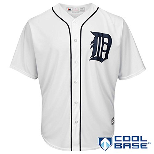 Cabrera Jersey - Detroit Tigers Word Mark White Youth Cool Base Home Replica Jersey (X-Large 18/20)