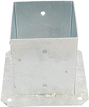 argent Kotarbu Douille /à visser 120//100//90//70 mm pour poteaux carr/és