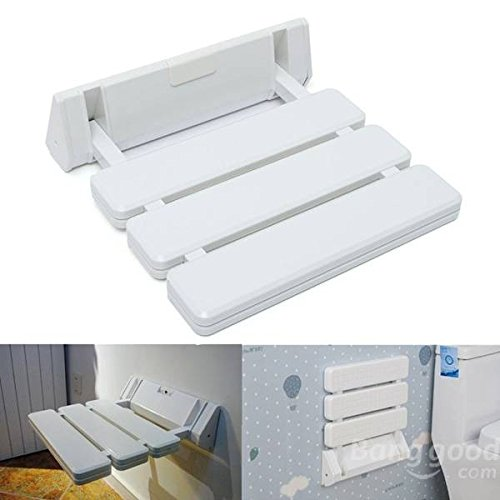 Bazaar Wall-mounted Folding Shower Seat Stool Bathroom Anti-slip Safety Chair for Elder Pregnancy Big Bazaar