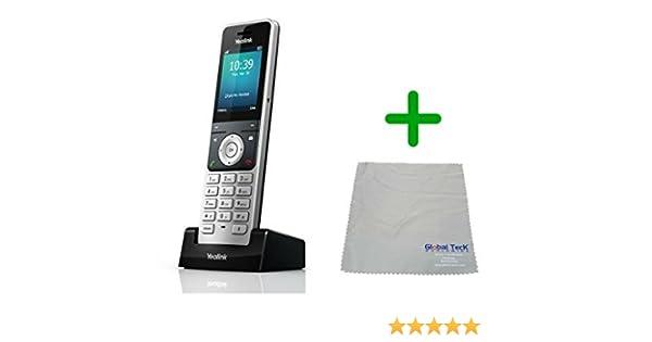 Yealink W60P - Teléfono inalámbrico con IP DECT, paño de microfibra #YEA-W60P-B: Amazon.es: Electrónica