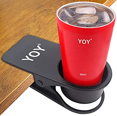 Incredible Yoy Drinking Home Office Table Desk Side Huge Clip Water Drink Beverage Soda Coffee Mug Holder Cup Saucer Design Black Download Free Architecture Designs Rallybritishbridgeorg