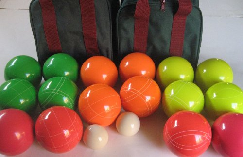 Unique Combo Premium Quality EPCO Tournament Sets, 4 color bocce ball option - 110mm. 2 Bags ... by Epco