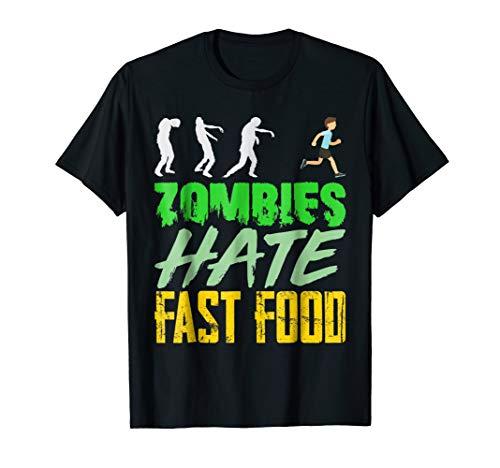 (Scary Zombie Hate Fast Food Funny Men Women Kid)
