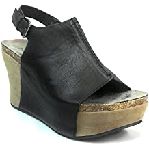 Pierre Dumas Women Low Wedge With an Adjustable Side bucklel It Is Made From a Combination Of Faux Suede and a Man Made Metallic Material. The Insole Is Padded hester-14 (22617)