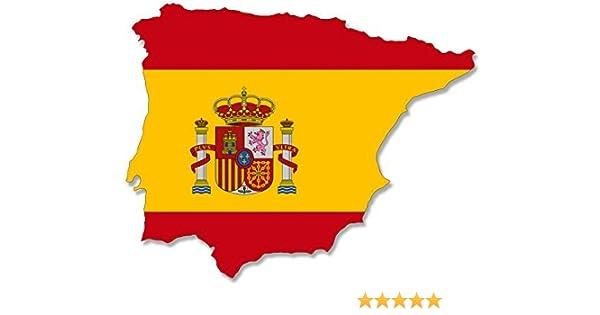 España Spainish OVAL WITH FLAG STICKER for bumper car fridge book door laptop