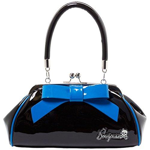 Sourpuss Tasche - Floozy Schwarz Blau Henkeltasche