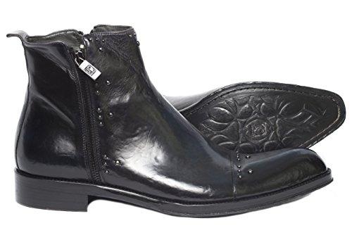 Jo Ghost334 M Menns Svart / Blått Støvler Med Pigger