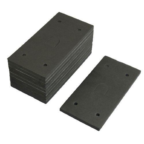 Water & Wood 10pcs Reacangle Shaped Foam Sander Replacement Back Pad Mat for Makita 9035