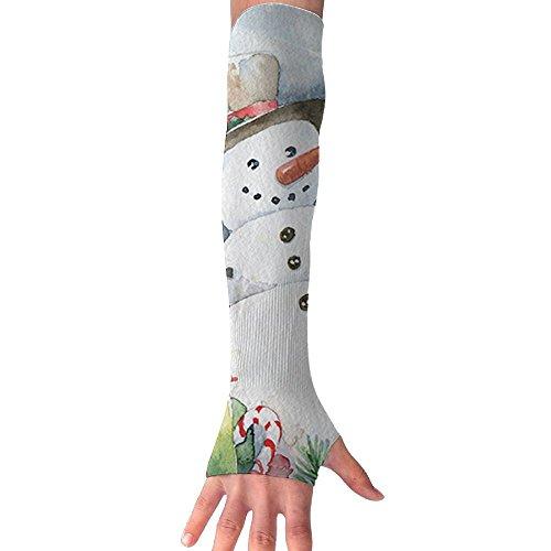 Christmas 2017 Snowman Claus Cooling Arm Sleeves Unisex Sun Block UV Protection International Fashion (Stations Music Radio 2017 Christmas)