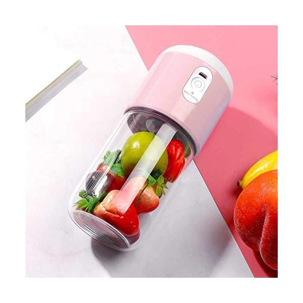 260ml portatile elettrico tazza di succo di miscelazione a sei lame USB frullati ricaricabili frullatori per alimenti… 7 spesavip