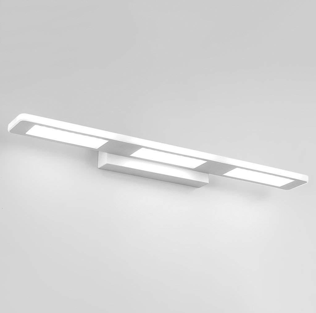 Wall Light Home LED-Beleuchtung für Badezimmer - Beleuchtung mit wasserdichter Wand Badezimmerleuchten und kaltgewalzte Röhren warmweißes Licht Farbe quadratisch weiß - 37 cm   12 W