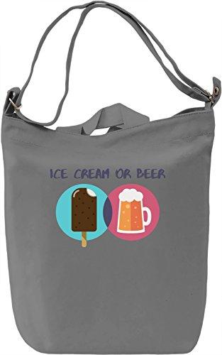 Ice cream or beer? Borsa Giornaliera Canvas Canvas Day Bag| 100% Premium Cotton Canvas| DTG Printing|