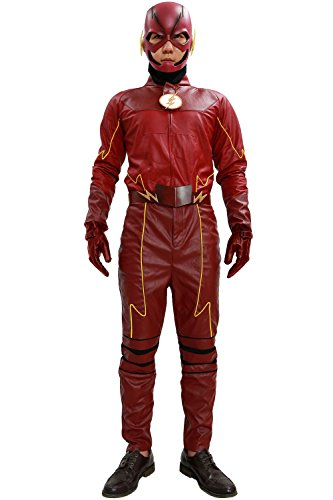 Halloween Barry Allen Costume (Deluxe Barry Allen Costume Outfit for Halloween Flash Costume Season 2)