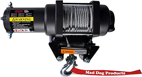 (Mad Dog 3500 lb Winch Mount Combo Can-Am Renegade 570 650 850 1000 XMR '17-19)