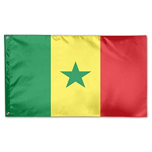 Senegal Flag Breeze 3 X 5 Flag - Flying With The Wind Vivid Color And UV Fade Resistant Senegal Flag Polyester With Brass Grommets 3 X 5 - Flag Colors Senegal