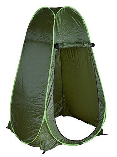 TMS Portable Green Outdoor Pop Up Tent Camping Shower Privacy Toilet Changing Room]()