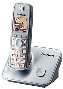 "Panasonic KX-TG6611, 100 entradas, Amarillo, 4.57 cm (1.8 ""), Plata, 129 x 75 x 90 mm, 49 x 29 x 150 mm [importado de Alemania]"