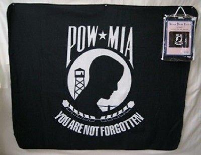 U.S. Military POW MIA POWMIA 50x60 Polar Fleece Blanket Throw
