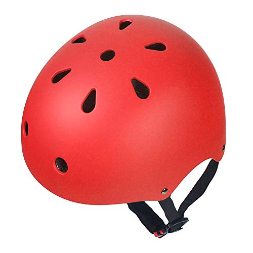 (Dostar Kids Bike Helmet – Adjustable from Toddler to Kids Size, Durable Kids Cycling Multi-Sport Safety Bicycle Skating Scooter Helmet for 3 to 8 Years Old Girls/Boys (Red (50-54 cm)))