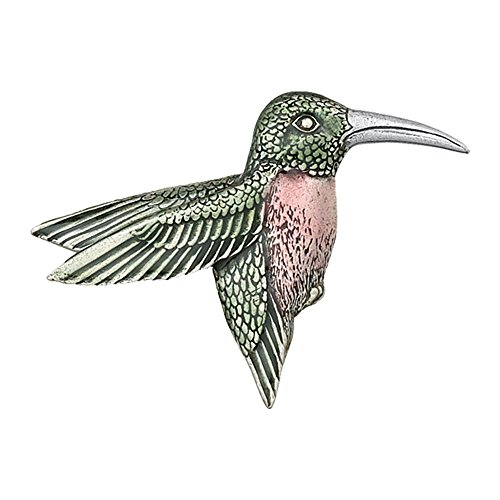 DANFORTH - Hummingbird Brooch Pin - 2 Inches Wide - Pewter - Handcrafted - Made in USA ()