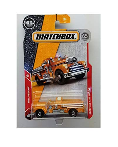 Matchbox 2018 MBX Rescue Seagrave Fire Engine 72/125, Orange