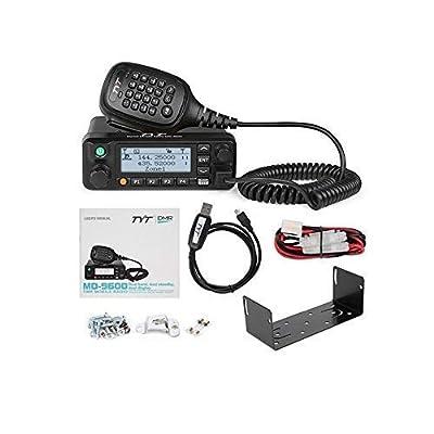 TYT MD-9600 GPS Digital/FM Analog Dual Band DMR Mobile Transceiver 50-Watt VHF/UHF Car Truck Amateur Radio HAM Two Way Radio