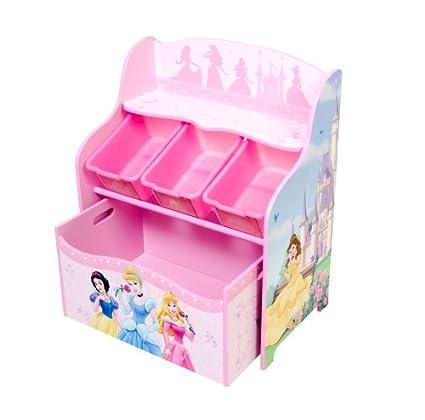 Amazon.com: Disney Princess 3 Bin Organizer With Roll Out Toy Box