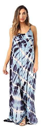 Riviera Sun 21775-NVY-1X Summer Dresses Maxi Dress Sundresses for Women Navy