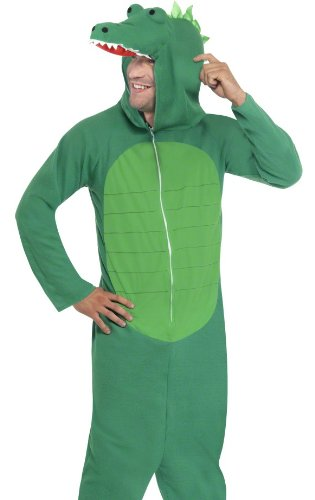 [Smiffys Adult Crocodile Funny Animal Theater Halloween Costume Large] (Adult Crocodile Costumes)