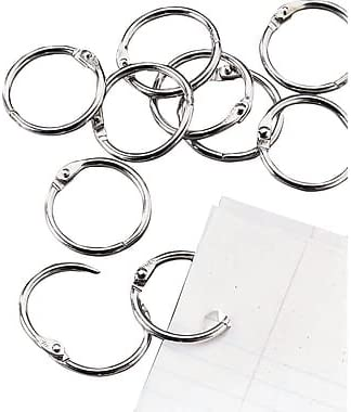 2 Size Silver9 Pack 1InTheOffice Loose Leaf Rings