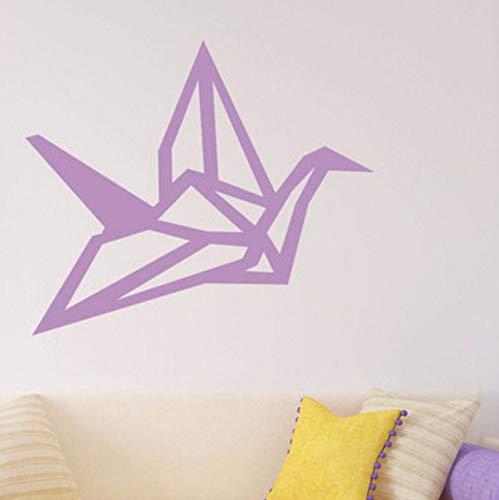 Pbldb 67X57Cm Wall Decal Animal Crane Origami Pattern Wall Stickers Baby Nursery Rooms Art Mural Decor Interior Modern Gift Design -