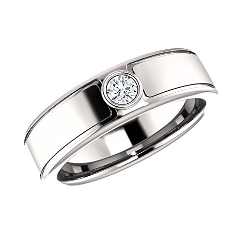 0.21 ct Ladies Round Cut Wedding Band Diamond Ring ( Color G Clarity SI1) 18 kt White Gold In Size (0.21 Ct Color)